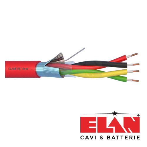 Cablu de incendiu E120 - 2x2x0.8mm, 100m ELN120-2x2x08 [1]