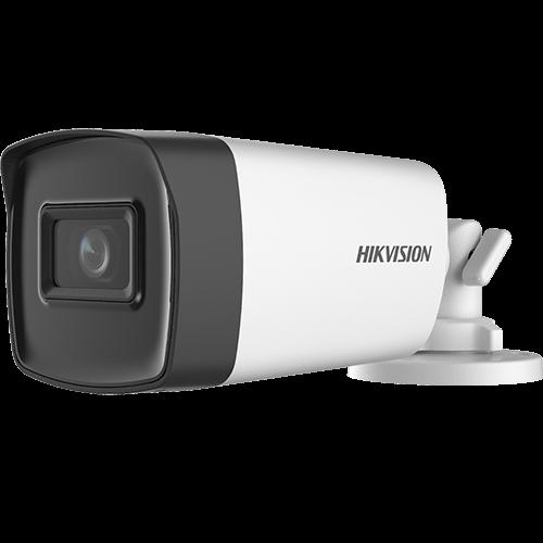 Camera AnalogHD 5MP, lentila 2.8mm, IR 40m, AUDIO integrat - HIKVISION DS-2CE17H0T-IT3FS-2.8mm [0]