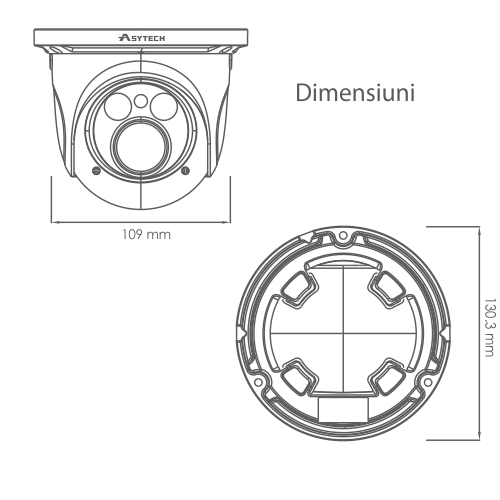 Camera IP 2.0MP, lentila 2.8-12mm - ASYTECH seria VT VT-IP52DV-2S [2]