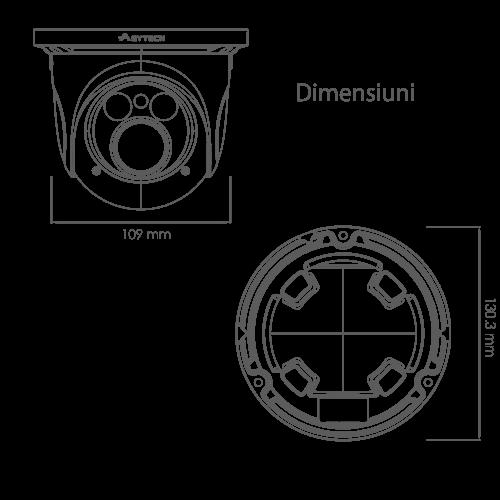 Camera IP 3.0MP, lentila 2.8-12mm - ASYTECH seria VT VT-IP52DV-3S [2]