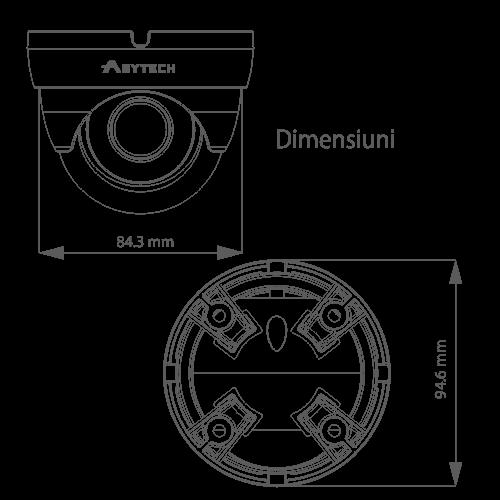 Camera IP 3.0MP, lentila 2.8mm - ASYTECH seria VT VT-IP18DF-3S [2]