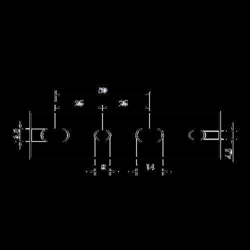 Canal cablu perforat 25x40 mm, cu capac, 2m - DLX PVCP-257-40 [3]