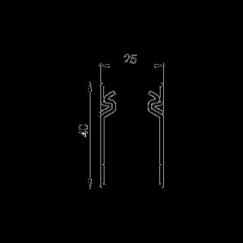 Canal cablu perforat 25x40 mm, cu capac, 2m - DLX PVCP-257-40 [1]