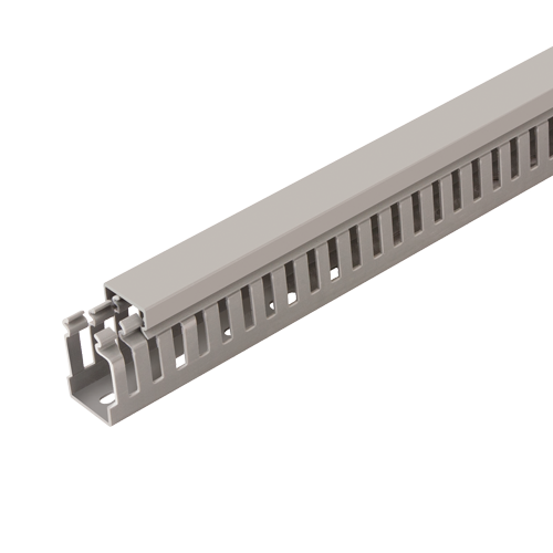 Canal cablu perforat 25x40 mm, cu capac, 2m - DLX PVCP-257-40 [0]