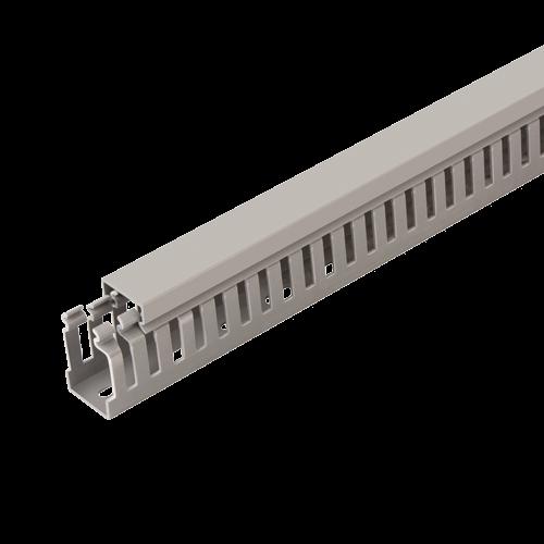 Canal cablu perforat 40x60 mm, cu capac, 2m - DLX PVCP-407-60 [0]