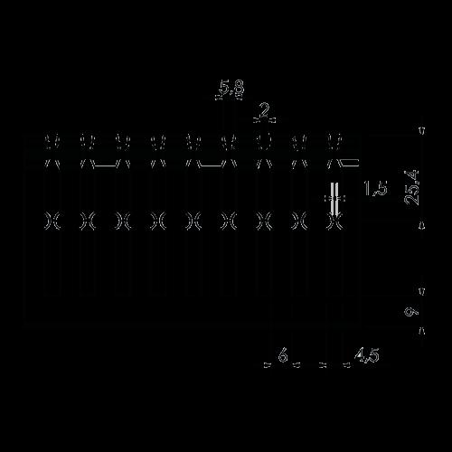 Canal cablu perforat 40x60 mm, cu capac, 2m - DLX PVCP-407-60 [2]