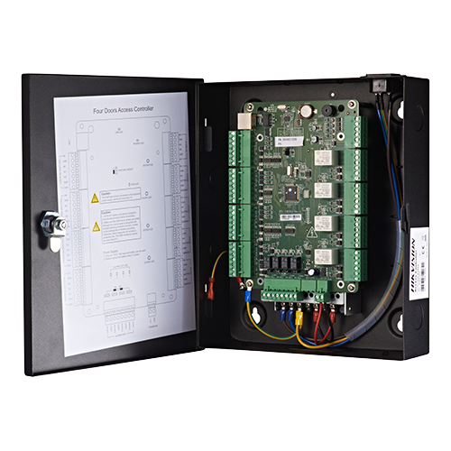 Centrala de control acces pentru 4 usi unidirectionale, conexiune TCP/IP -HIKVISION DS-K2804 [0]
