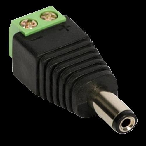 Conector de alimentare tata, 12V, cu surub SDC-CAT [0]