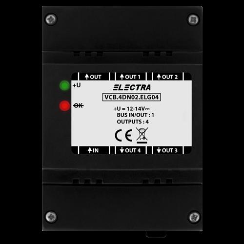 Doza derivatie video Electra, 4 iesiri smart - VCB.4DN02.ELG04 [0]