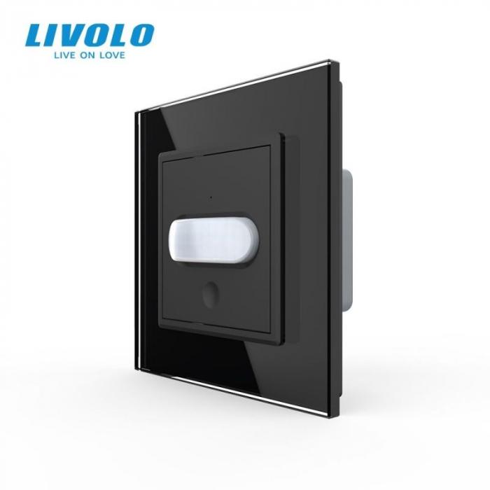 Intrerupator cu senzor de miscare PIR, negru - Livolo VL-C701RG-12 [0]