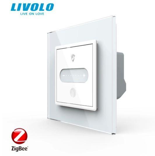 Intrerupator cu touch, alb,  cap scara / cruce- dimabil, intensitate lumina ajustabila, Wi-Fi Zigbee - Livolo VL-FC1SDZ-2WP/B/I/A-SR [0]