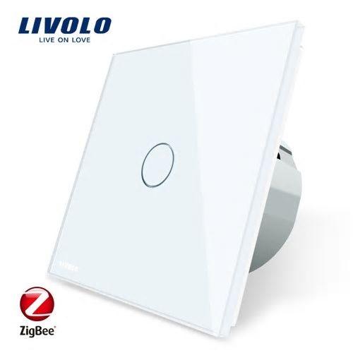 Intrerupator simplu cu touch, alb, Wi-Fi ZigBee - Livolo VL-C701Z-11 [0]