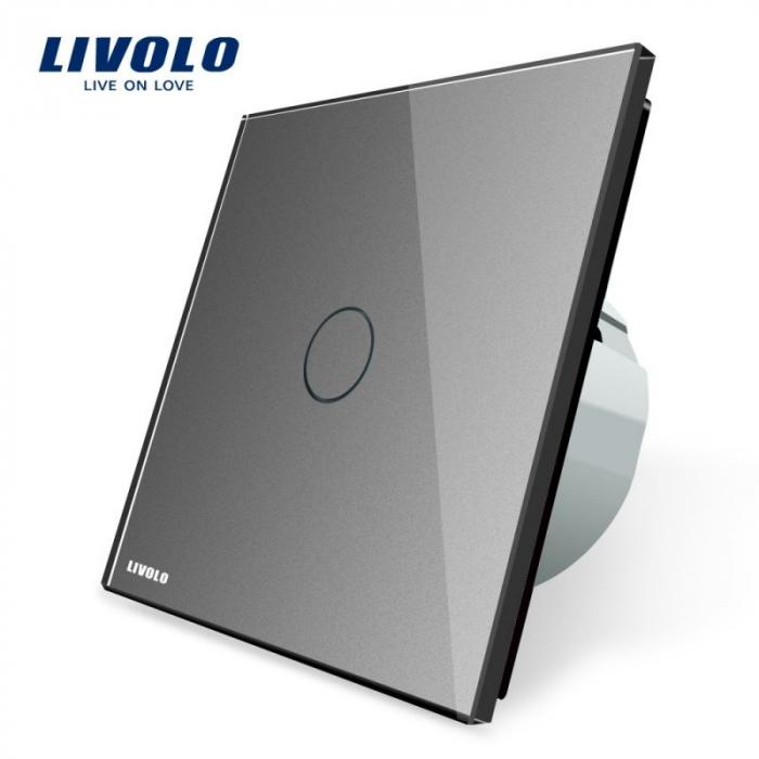 Intrerupator simplu cu touch, gri - Livolo VL-C701-15 [0]