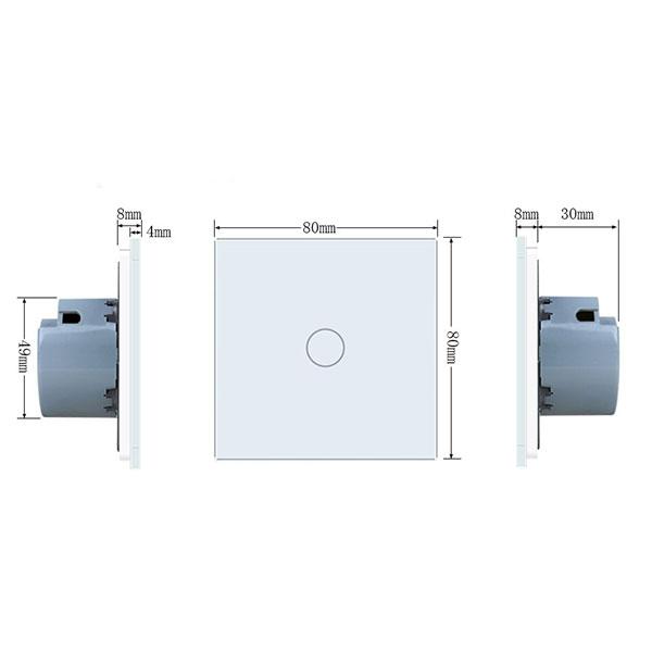 Intrerupator simplu cu touch,gri - Welaik A1911CS [2]