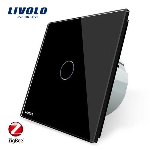 Intrerupator simplu cu touch, negru, Wi-Fi ZigBee - Livolo VL-C701Z-12 [0]