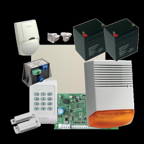 Kit alarma la efractie DSC cu sirena exterioara KIT1404EXT-BS1 [0]