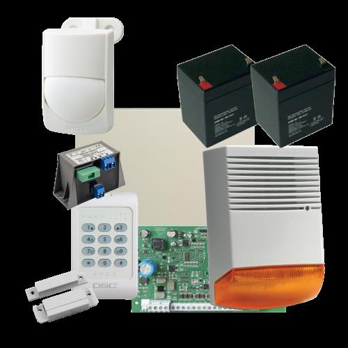 Kit alarma la efractie DSC cu sirena exterioara KIT1404EXT-BS1-OPT [0]