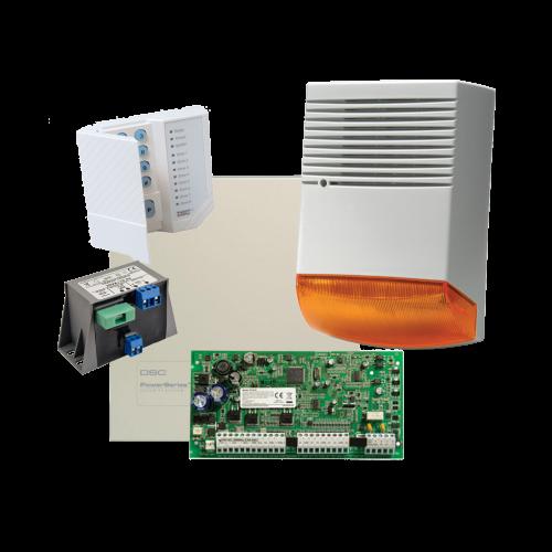 Kit alarma la efractie DSC cu sirena exterioara KIT1616BS [0]