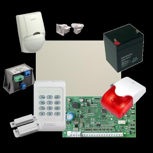 Kit alarma la efractie DSC cu sirena interioara KIT1404INT [0]