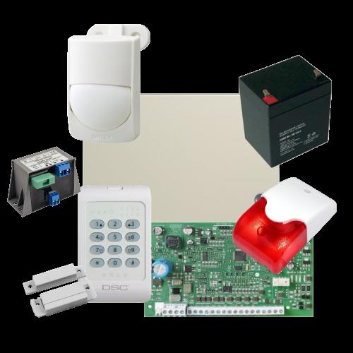 Kit alarma la efractie DSC cu sirena interioara KIT1404INT-OPT [0]