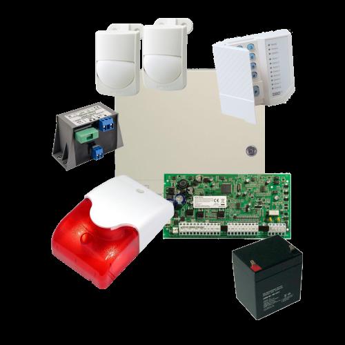 Kit alarma la efractie DSC cu sirena interioara KIT1616INT-OPT [0]