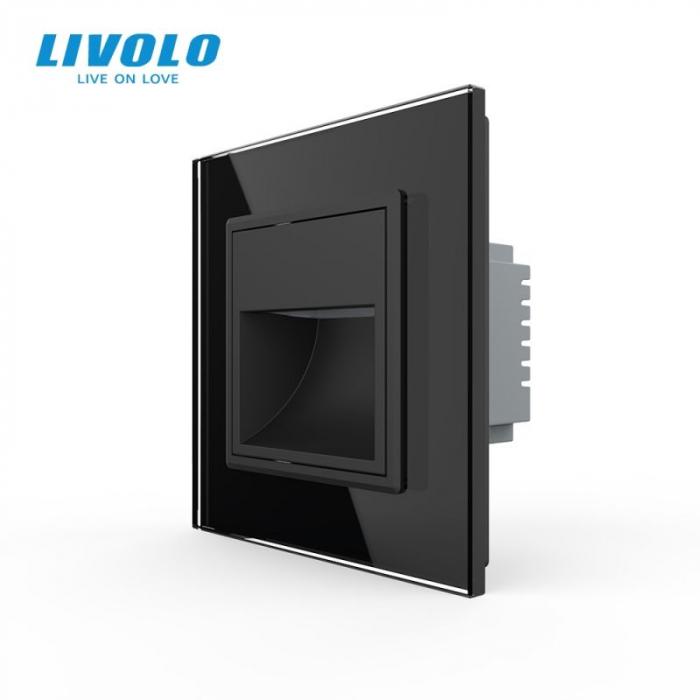Lampa de orientare scara, negru,  cu rama de sticla - Livolo 782800612-SR [0]