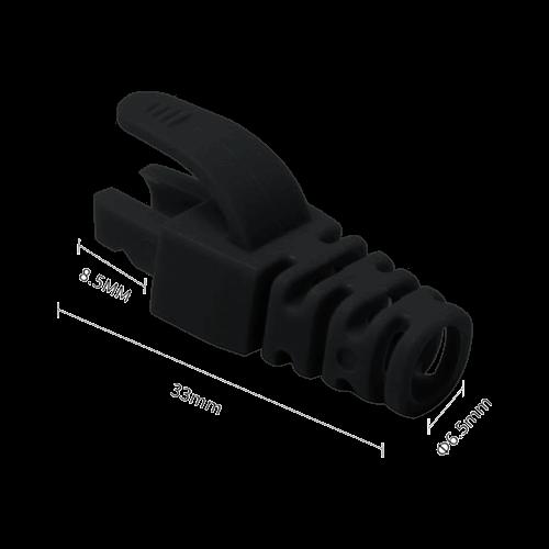 Manson protectie mufa RJ45, negru (100buc) RJ45-CAP-BK [0]