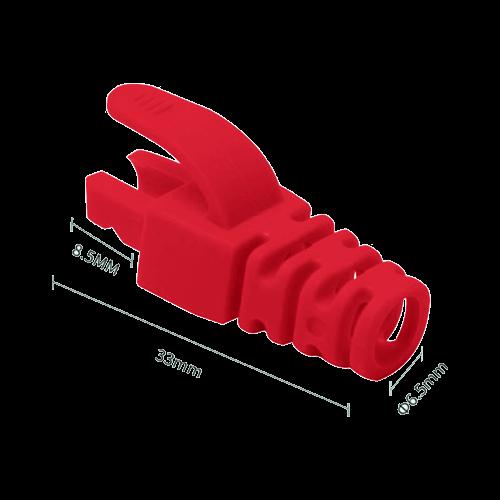 Manson protectie mufa RJ45 rosu (100buc) RJ45-CAP-RD [0]