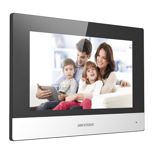 Monitor videointerfon Touch Screen TFT LCD 7 inch, conectare 2 fire, Wifi - HIKVISION DS-KH6320-WTE2 [0]