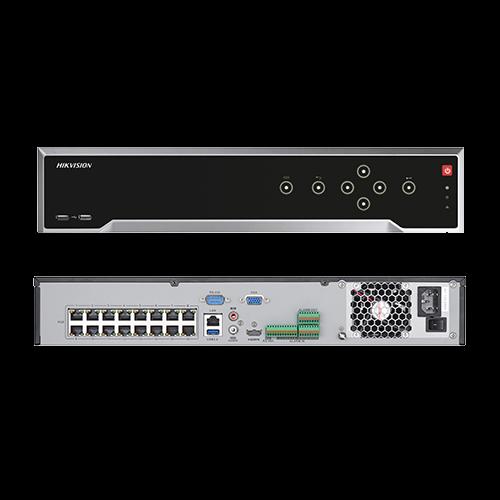 NVR 4K, 32canale 8MP + 16 porturi PoE - HIKVISION DS-7732NI-K4-16P [3]
