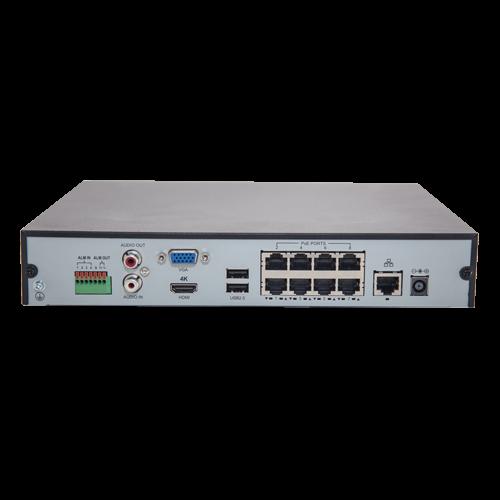 NVR 8 canale 4K + 8 porturi PoE - UNV NVR301-08X-P8 [3]
