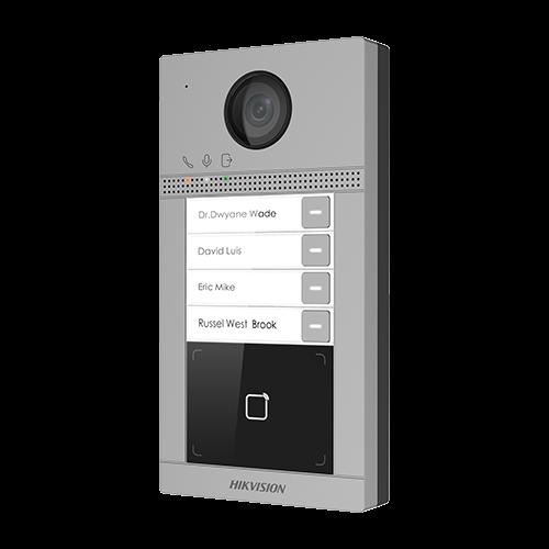 Post videointerfon Hikvision exterior TCP/IP pentru 4 familii, Wi-Fi 2.4GHz, control acces integrat - DS-KV8413-WME1 [2]