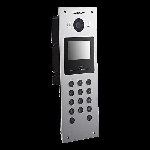 Panou exterior videointerfon TCP/IP pentru blocuri si spatii birouri, control acces card, afisaj LCD- HIKVISION DS-KD3003-E6 [1]