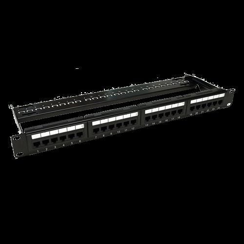 Patch Panel 1U, UTP cat6A, 24 porturi RJ45 - ASYTECH Networking ASY-PP-UTP6A-24 [0]