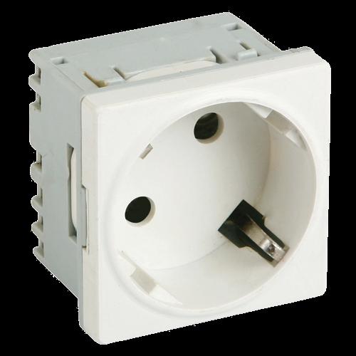 Priza modulara schuko cu impamantare, alb - DLX DLX-245-45 [0]