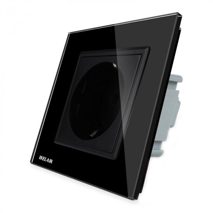 Priza simpla,negru - Welaik A18EB [0]