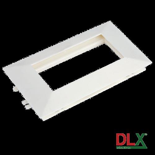 Rama alba cvadrupla pentru aparataj 45x45 mm (8 module) - DLX DLX-102-14 [0]