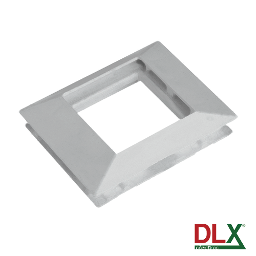 Rama alba simpla pentru aparataj 45x45 mm (2 module) - DLX DLX-102-11 [0]