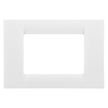 Rama ornamentala 3 module, alb,  system virna -  Gewiss GW22103 [0]