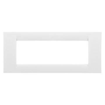 Rama ornamentala 6 module, alb,  system virna -  Gewiss GW22106 [0]
