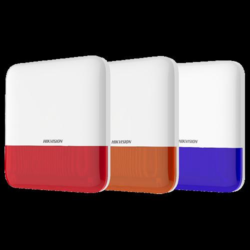 Sirena wireless AX PRO de exterior cu flash, led Rosu, 868Mhz - HIKVISION DS-PS1-E-WE-R [1]