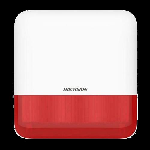 Sirena wireless AX PRO de exterior cu flash, led Rosu, 868Mhz - HIKVISION DS-PS1-E-WE-R [0]