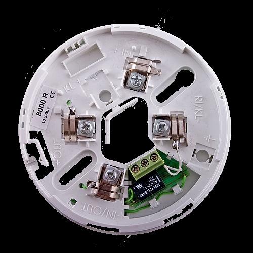 Soclu cu releu pentru detectorii conventionali din seria FD80xx - UNIPOS DB8000R [0]