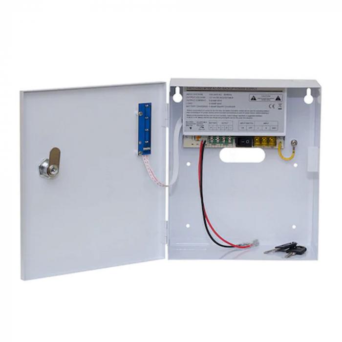 Sursa de alimentare cu back-up 12V 3A in cabinet metalic - SDC-12-3B [1]