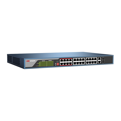 Switch 24 porturi PoE, 2 porturi uplink - HIKVISION DS-3E0326P-E [2]