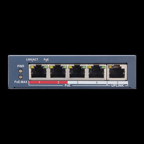 Switch 4 porturi PoE, 1 port uplink RJ45, SMART Management - HIKVISION DS-3E1105P-EI [3]