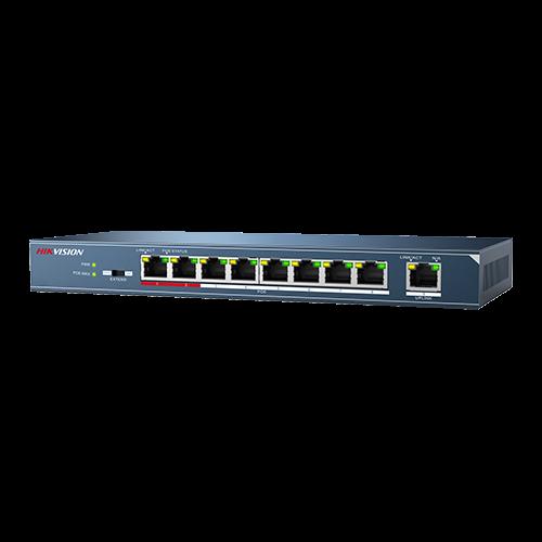 Switch 8 porturi PoE, 1 port uplink- HIKVISION DS-3E0109P-E-M [0]