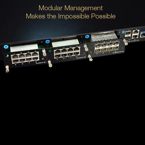 Switch modular, 28 porturi gigabit RJ45/SFP, Layer 2 Web management - UTEPO UTP7524GE-MX [1]