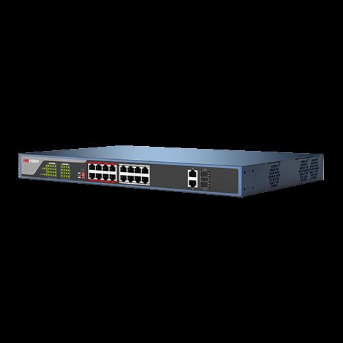 Switch Web-managed 16 porturi PoE, 2 porturi SFP uplink, - HIKVISION DS-3E1318P-E [2]