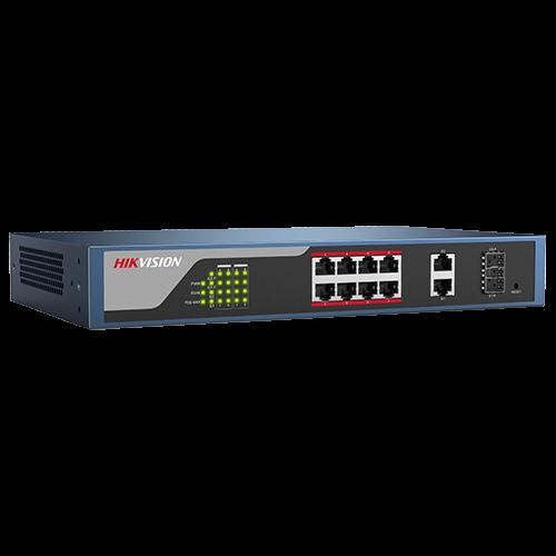 Switch Web-managed 8 porturi PoE, 2 porturi SFP uplink, - HIKVISION DS-3E1310P-E [2]
